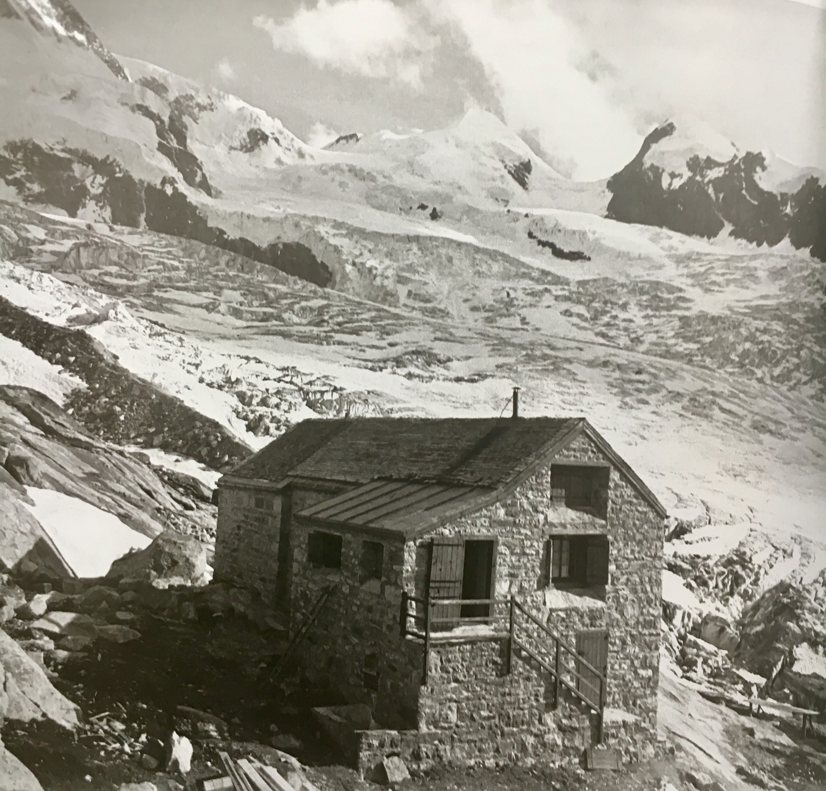 Cabane Bétemps, second expansion, around 1935